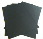 A2 Black Card Smooth Art Craft Design 240gsm/300mic - 25 Sheets